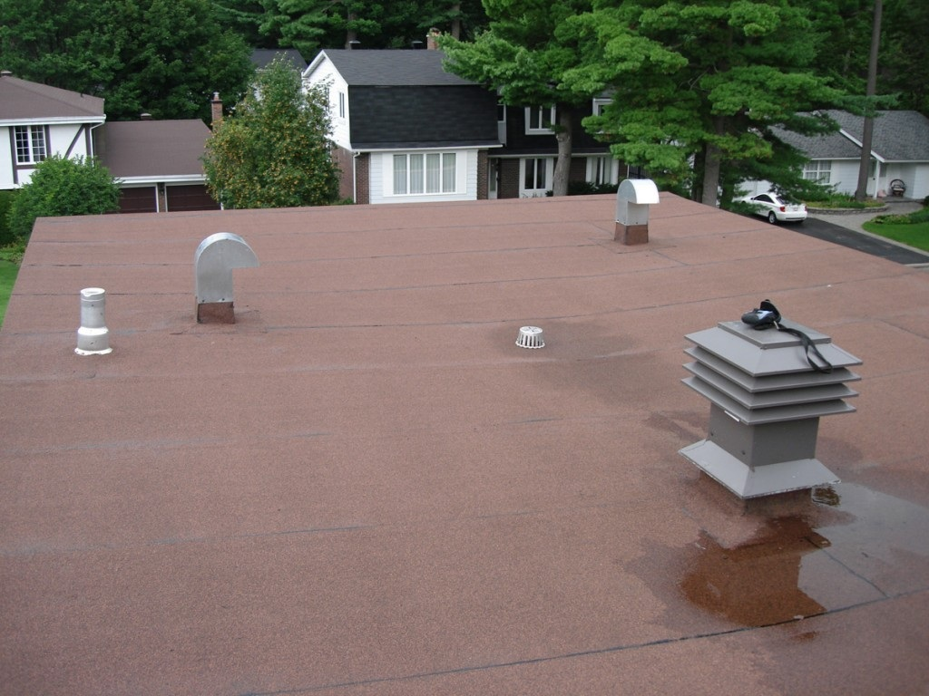 Ponding On A Flat Roof Top